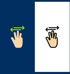 hand hand cursor up left right icons flat and vector image