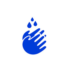 hand wash water drop logo icon vector image