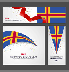 Happy aland independence day banner and vector
