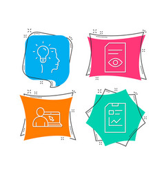 idea view document and online education icons vector image