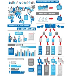 INFOGRAPHIC DEMOGRAPHICS POST IT BLUE vector image