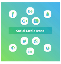 Ios 10 social media icon vector
