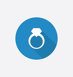 jewelery ring Flat Blue Simple Icon with long vector image