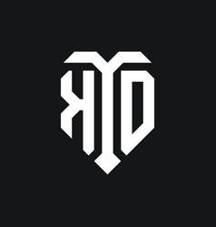 Ko logo monogram design template vector