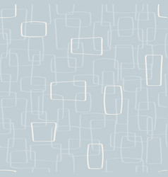 Light gray mod shapes seamless pattern vector