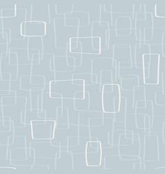 light gray mod shapes seamless pattern vector image