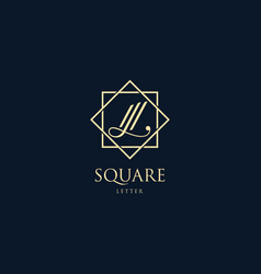 logo letter l with square luxury style vector image