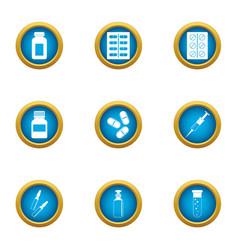 Lozenge icons set flat style vector