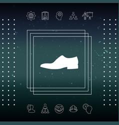 men s shoe icon menu item in the web design vector image