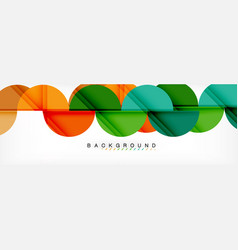 modern geometrical abstract background - circles vector image