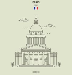Pantheon in paris vector
