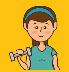 people lifestyle weight lifting vector image