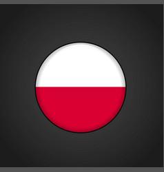 Poland flag circle button vector