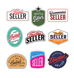 recommended and trusted seller vintage badge vector image