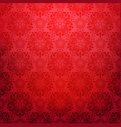 red ornamental background vector image