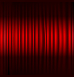 red stage curtain with black border vector image
