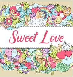 romantic background wallpaper texture postcard vector image