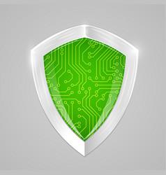 Security digital shield concept web security or vector