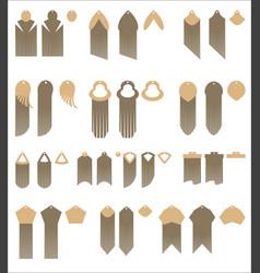 set design and decor elements fringed vector image