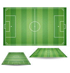 Set of top and side view of football fields textu vector