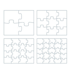 Sets puzzle pieces 2 x 2 vector