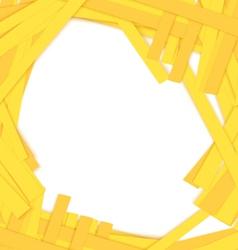 Shredded yellow paper center vector