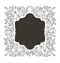 Silhouette border heraldic with decorative vector