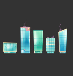 skyscraper buildings modern house architecture set vector image