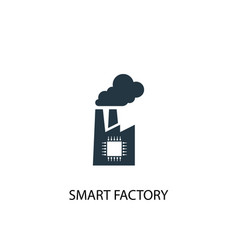 Smart factory icon simple element vector