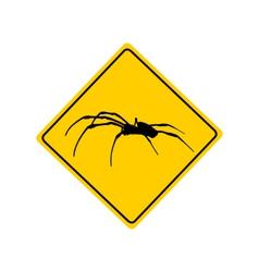 Spider warning sign vector