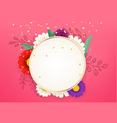 spring greeting card template layered vector image