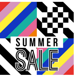 summer season sale sign for business discount vector image