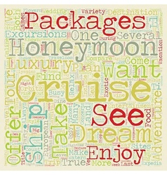 Take an Unforgettable Dream Honeymoon Cruise text vector
