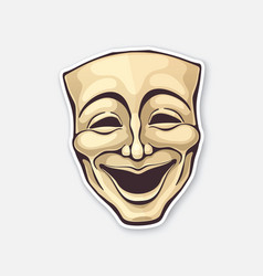 Theatrical comedy mask vintage opera mask vector
