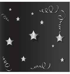 Tinsel and stars set for cards and gift paper vector