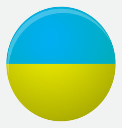 Ukraine flag icon flat vector image