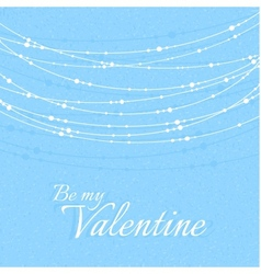 Valentines Day with Delicate Beautiful Decorations vector image