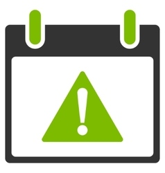 Warning Calendar Day Flat Icon vector