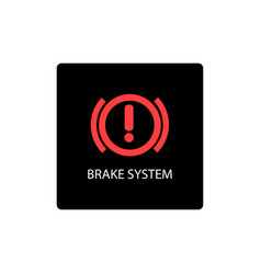 warning dashboard car icon brake system vector image