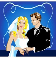 Wedding portrait vector