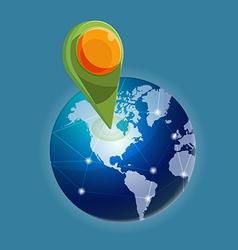 Check in Global world navigator vector image