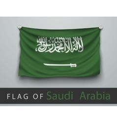 FLAG OF Saudi Arabia battered hung on the wall vector image vector image