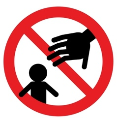 prohibition signs do not touch my baby vector image