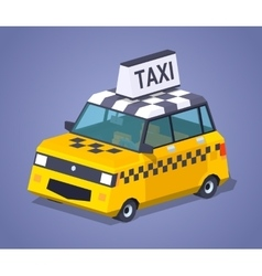 Yellow taxi hatchback vector image vector image