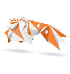 Abstract geometric model 3d shape vector
