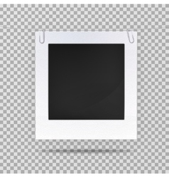 Blank picture or square frame for portrait vector image
