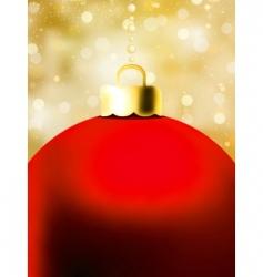 Christmas ball card template vector image