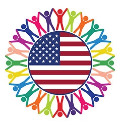 people of United States of America vector image