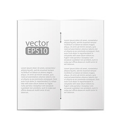 close up of a leaflet blank white paper on white vector image vector image