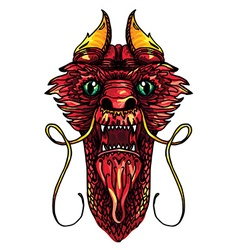 Dragon Head Tattoo vector image vector image